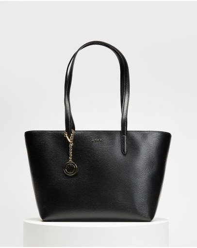 Dkny Bryant Medium Tote Black & Gold