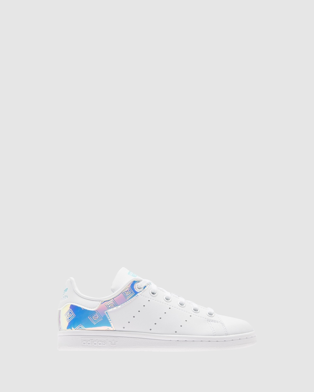adidas Originals Stan Smith II Grade School Sneakers White/Aqua Hologram
