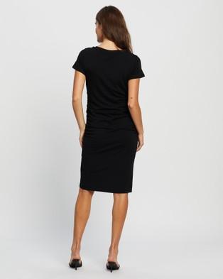 Angel Maternity Summer Maternity Dress - Dresses (Black)