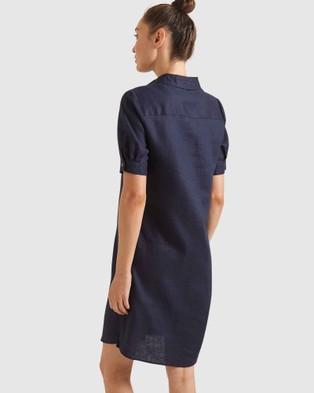 Sportscraft Kira Linen Dress - Dresses (Navy )