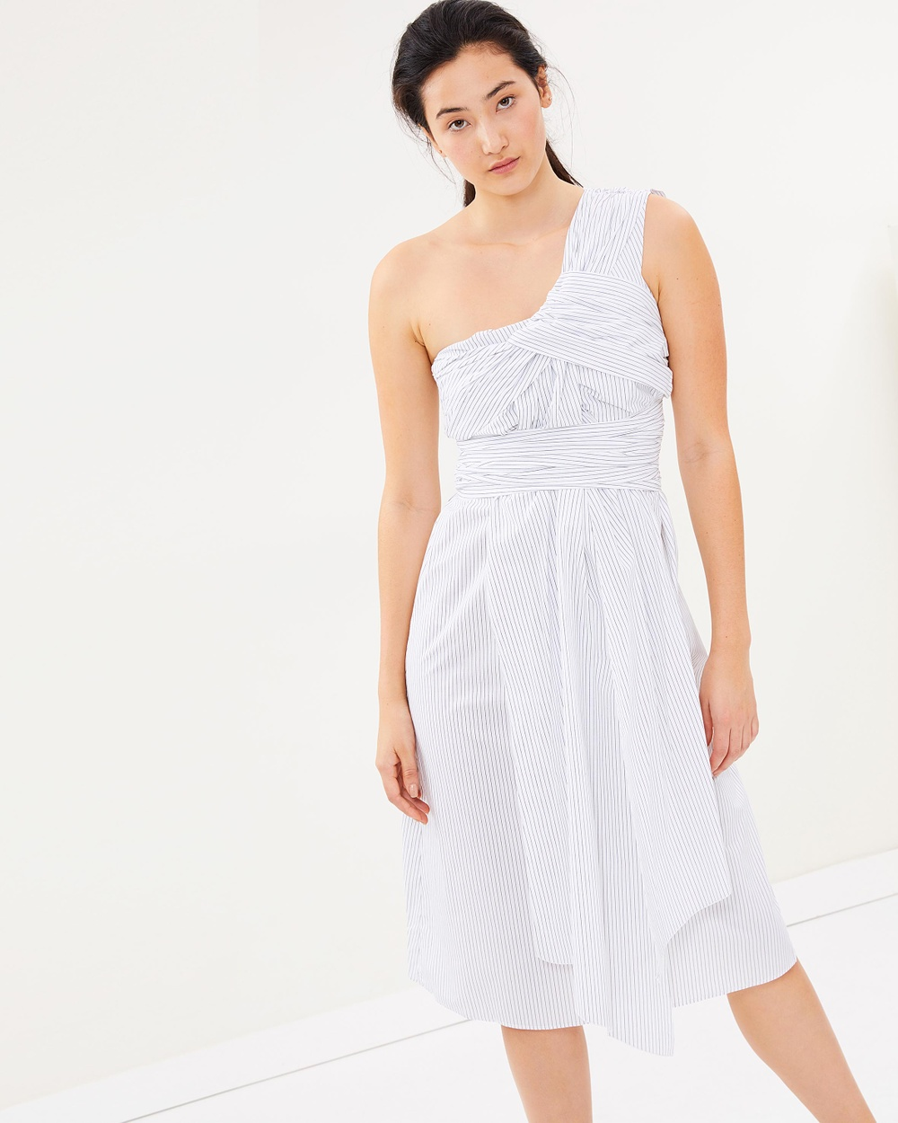 House of Dagmar Caprissa Dress Dresses Off White & Black Stripe Caprissa Dress