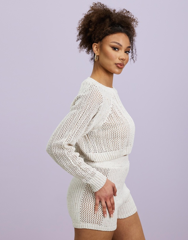 Women Recycled Jumper and Shorts Co-Ord