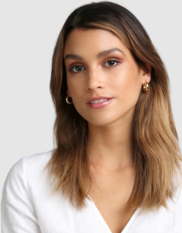 Women Bella Gold Hoop Earrings