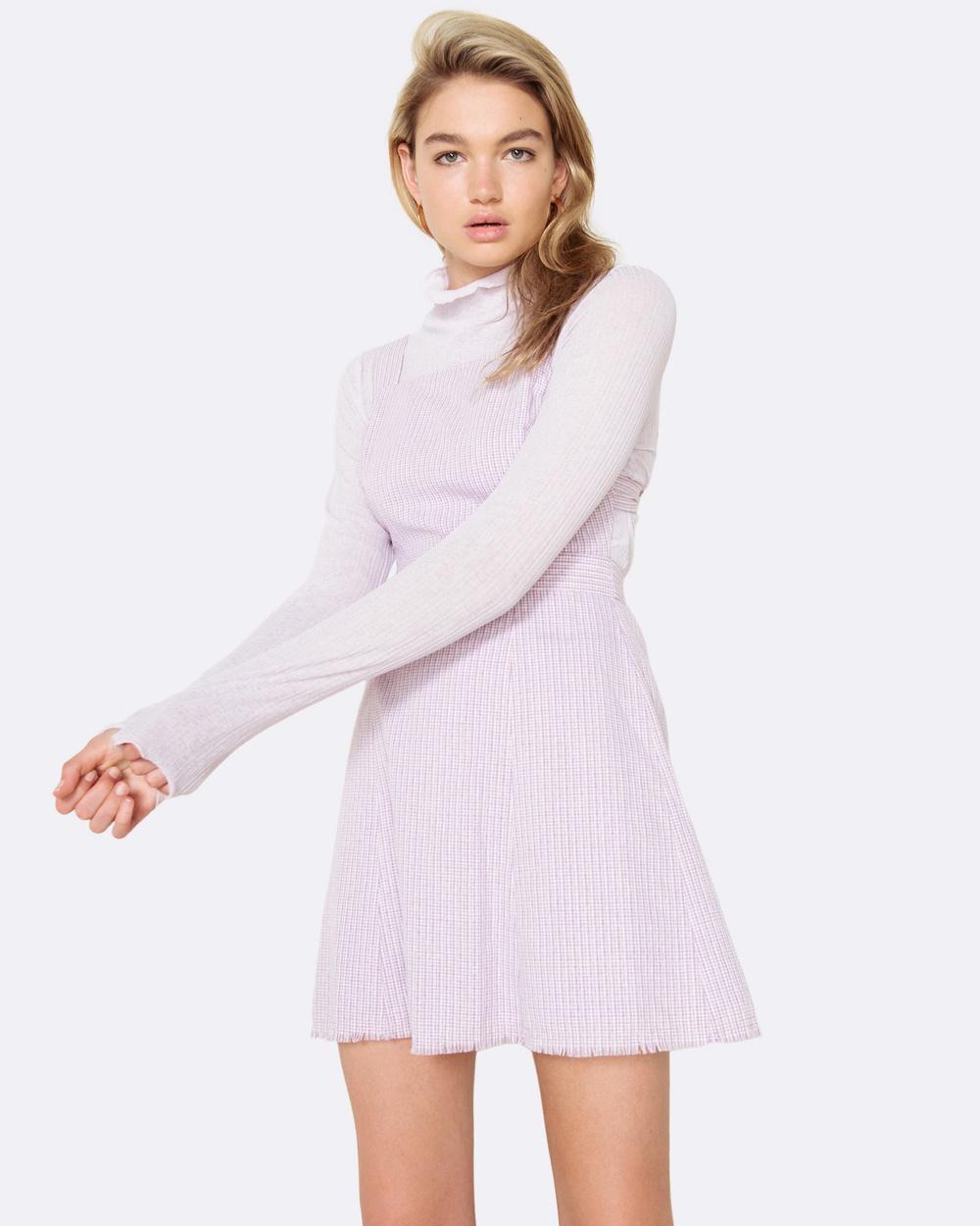 The East Order Portia Mini Dress Dresses Lilac Portia Mini Dress