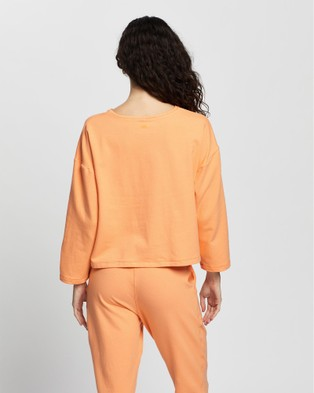 AVE Activewoman Authentic Crop Sweat - Sweats (Orange)