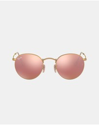 Ray-Ban - Round Metal Flash Lenses RB3447