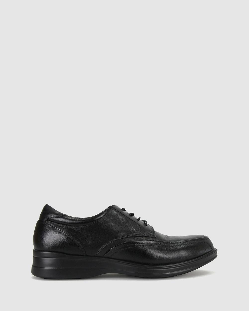Airflex William Leather Dress Shoes Black