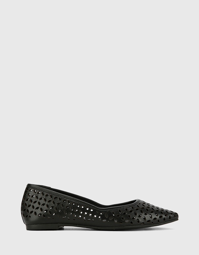 Wittner - Prue Perforated Leather Pointed Toe Flats