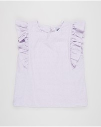 Free by Cotton On - Kiera Broderie Top - Teens