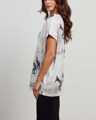 AllSaints - Santo Imogen Boy Tee T-Shirts & Singlets (Optic White)