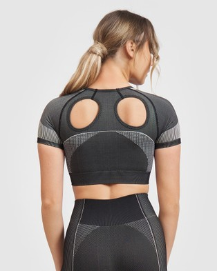 Core Trainer Lulu Crop Top - Crop Tops (Charcoal)