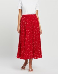 Michael Kors - Signature Logo Pleated Skirt