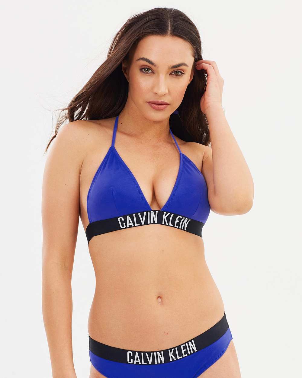 CK Swim Fixed Triangle Top Bikini Tops Amparo Blue Fixed Triangle Top