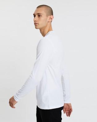 AllSaints Brace LS Crew Tee - T-Shirts & Singlets (Optic White)