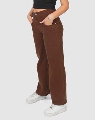 Gelati Jeans Kids - Kiki Wide Leg Jeans - Flares (Chocolate Brown) Kiki Wide Leg Jeans