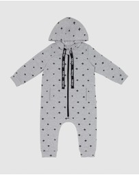 CHI KHI - Hooded Long Sleeve Onesie - Babies
