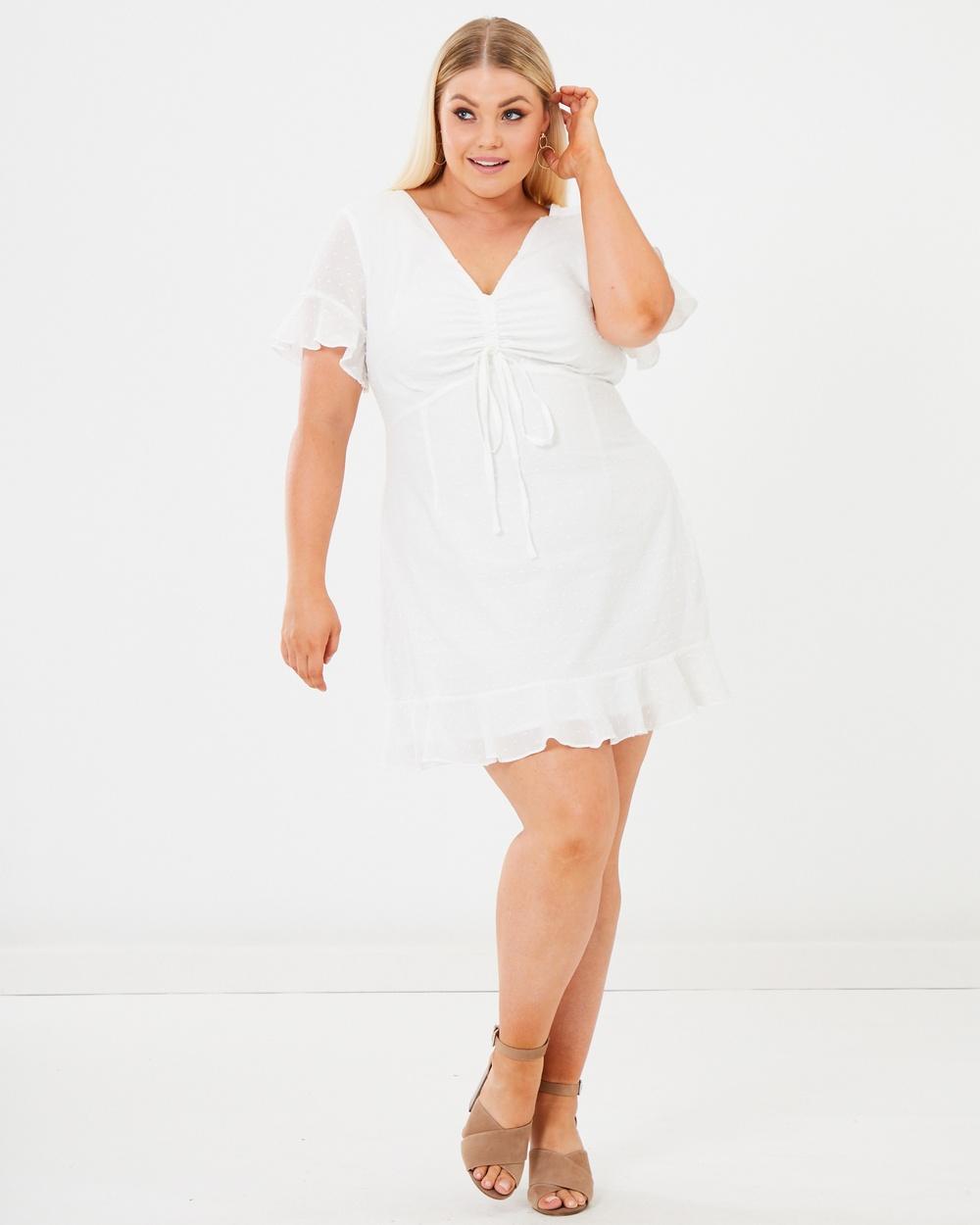 Calli Curve White Lisa Dress