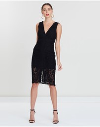 Bardot - Halter Lace Dress