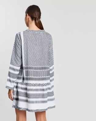 Cecilie Copenhagen - Dress 2, O, Long Sleeves - Dresses (Black & White) Dress 2, O, Long Sleeves