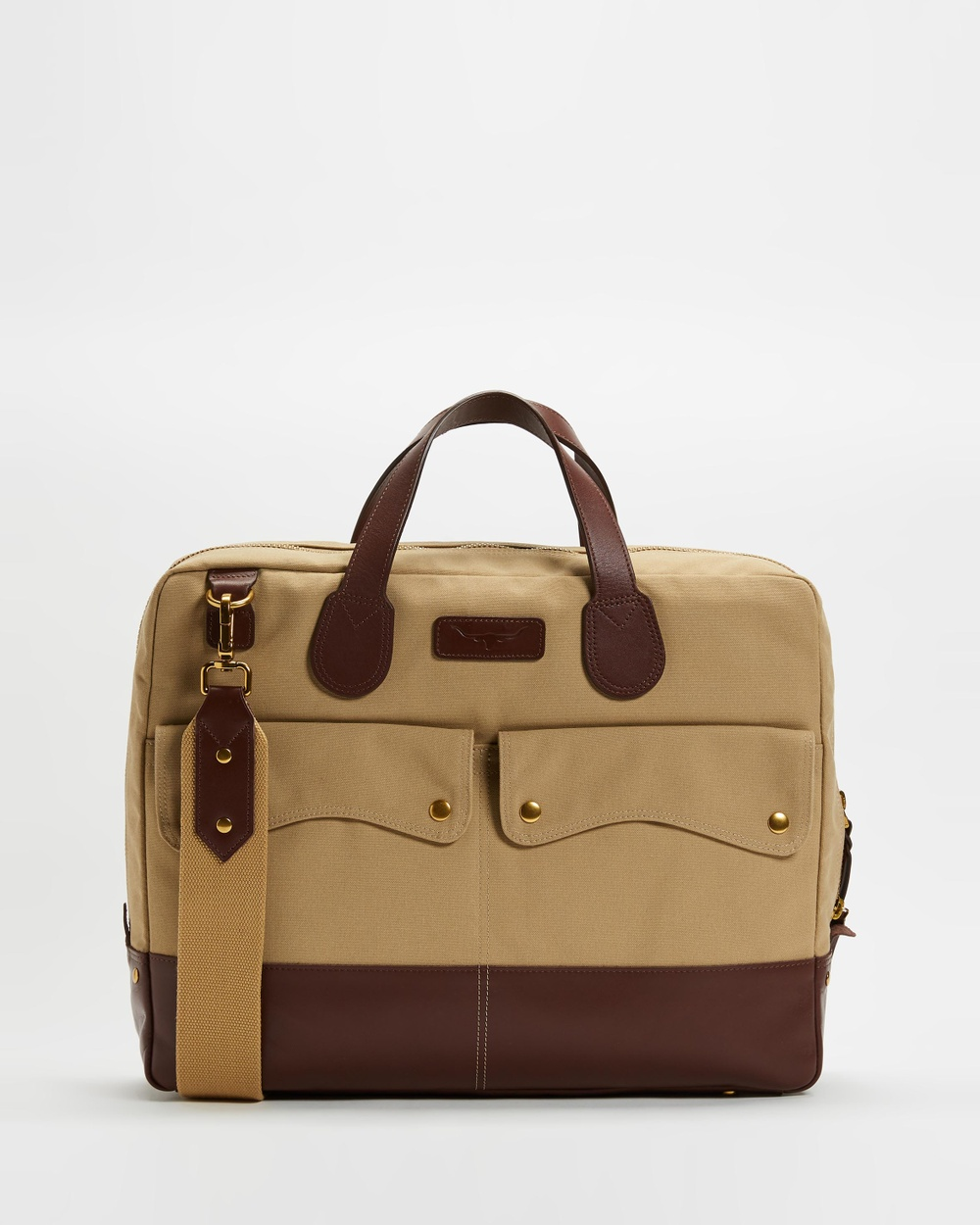 R.M.Williams Gippsland Brief case Bag Accessories Taupe & Whisky