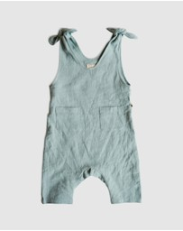 Goldie & Ace - ICONIC EXCLUSIVE by LINDY RAMA-ELLIS - Frankie Linen Overalls - Babies