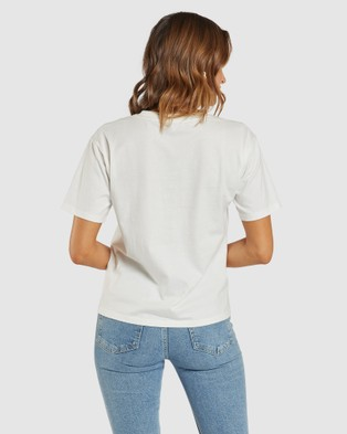 Apero Label - Journey Embroidered Tee - Short Sleeve T-Shirts (White) Journey Embroidered Tee