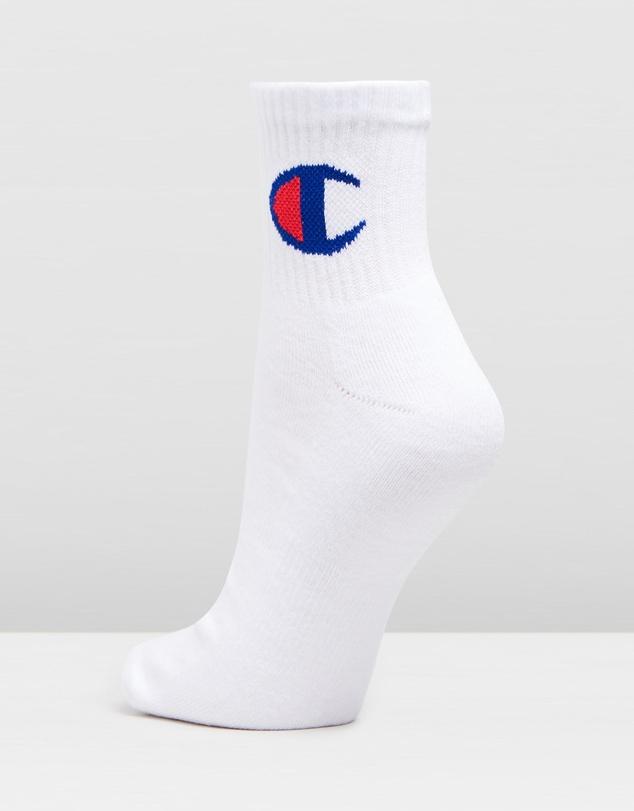 Women Logo Quarter Crew 3-Pack Socks