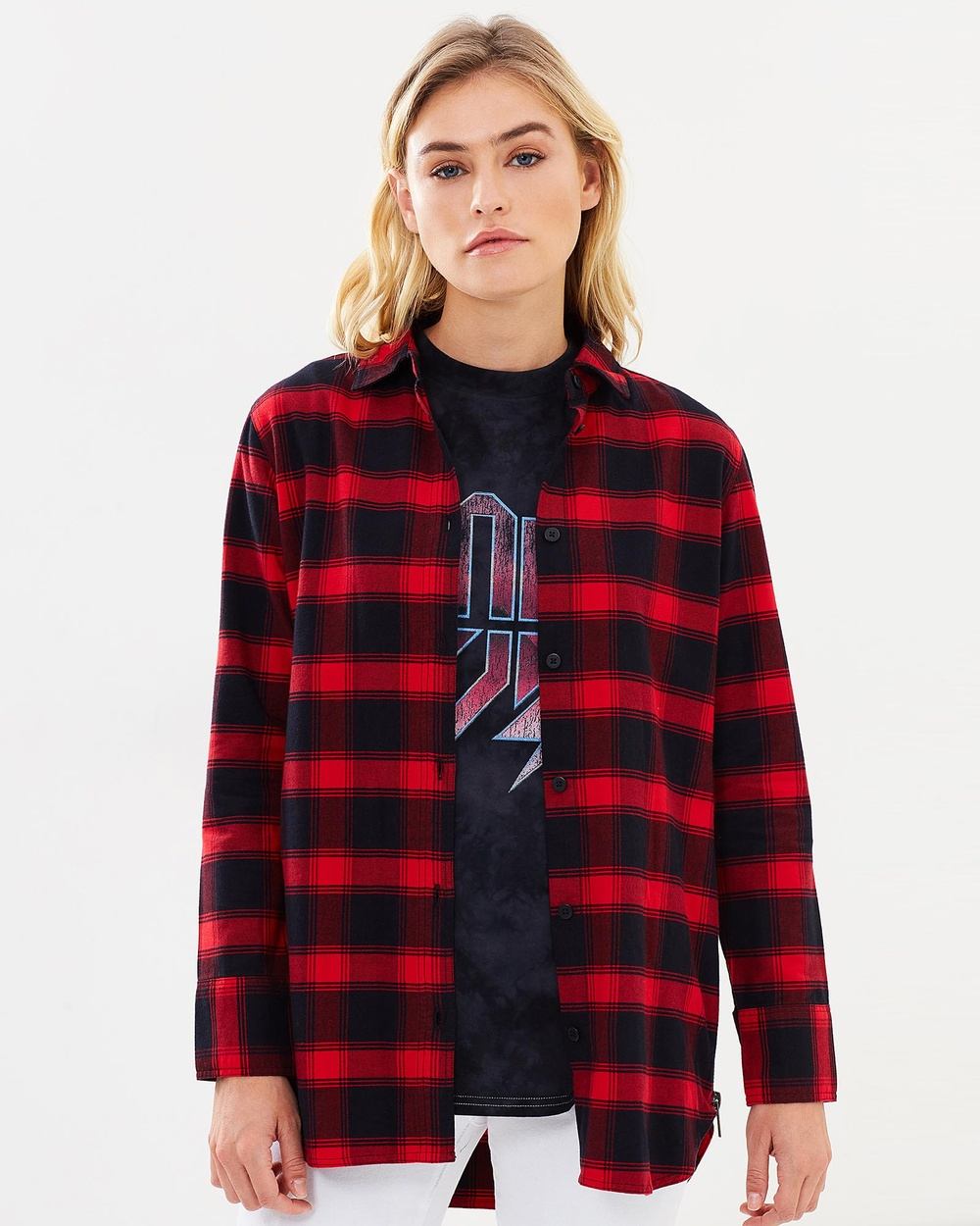 Nana Judy Kylie Shirt Tops Red Plaid Kylie Shirt