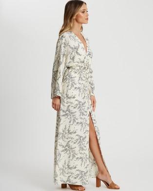 Tussah Jayde Maxi Dress - Printed Dresses (White Leaves)