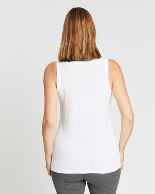 Cotton On Maternity Maternity Everyday Girlfriend Tank - Maternity Singlets (White)
