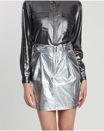 Third Form - Silver Surfer Mini Skirt