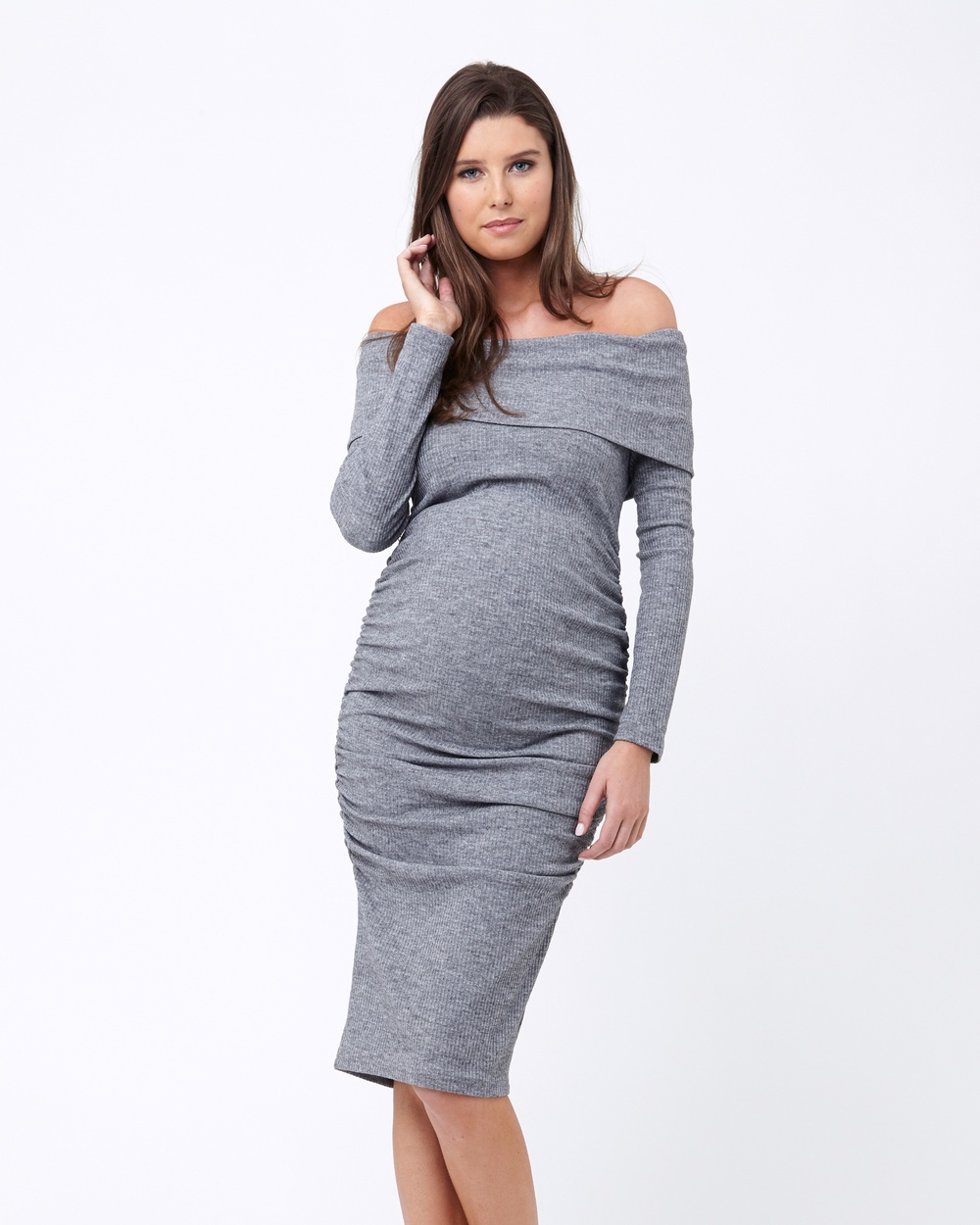 Ripe Maternity Bonnie Dress Dresses Grey Bonnie Dress