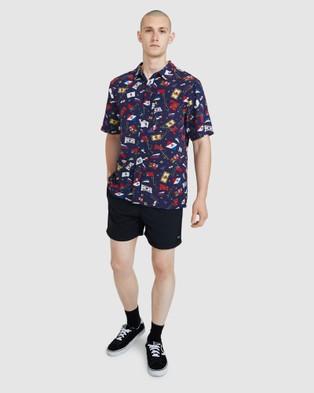 Spencer Project Kicker Boardshorts - Swimwear (BLACK)