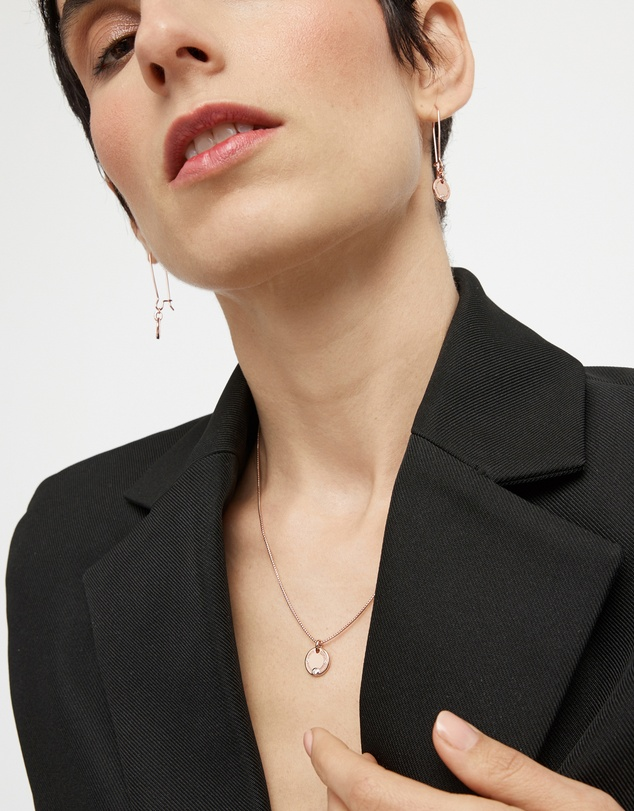 Women Rotate Sterling Silver Coin Necklace