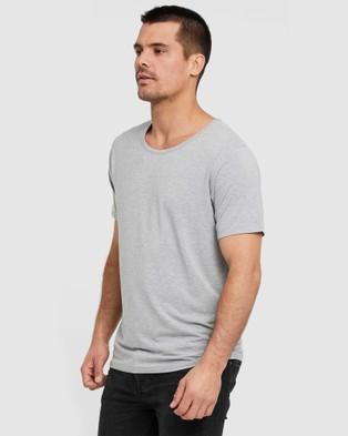 Bamboo Body Bamboo Crew Neck T Shirt - T-Shirts & Singlets (Light Grey Marle)