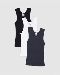 Bonds Kids - New Chesty Singlet 3-Pack - Kids