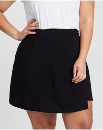 Atmos&Here Curvy - Lara Mini Wrap Skirt