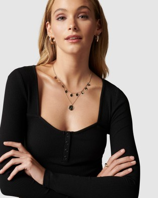 Forever New - Polly Sweetheart Rib Top - T-Shirts & Singlets (Black) Polly Sweetheart Rib Top