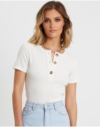 Calli - Grace Button Tee