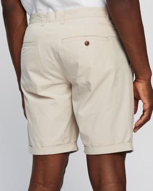 AERE Poplin Pleat Shorts - Chino Shorts (Fawn)