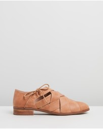Walnut Melbourne - Abbie Leather Lace-Up