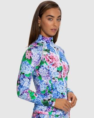 Aqua Blu Australia Blossom Rash Guard - Swimwear (Blossom)