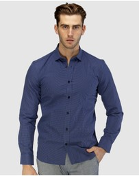 Brooksfield - Luxe All-over Cross Dobby Business Shirt