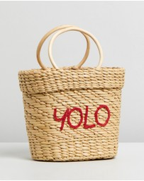 POOLSIDE - Mini Embroidered YOLO Tote