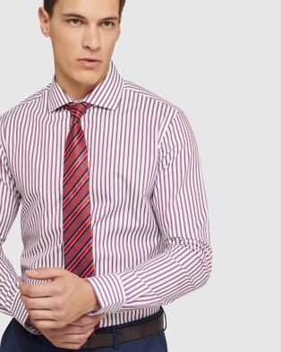 Oxford Trafalgar Striped Shirt - Shirts & Polos (Red)