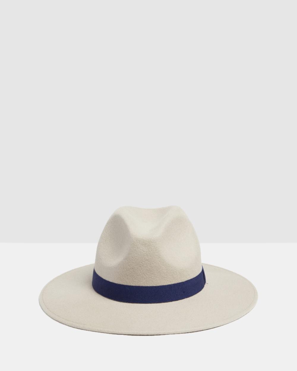 Kate & Confusion Colorado Fedora Hats Taupe