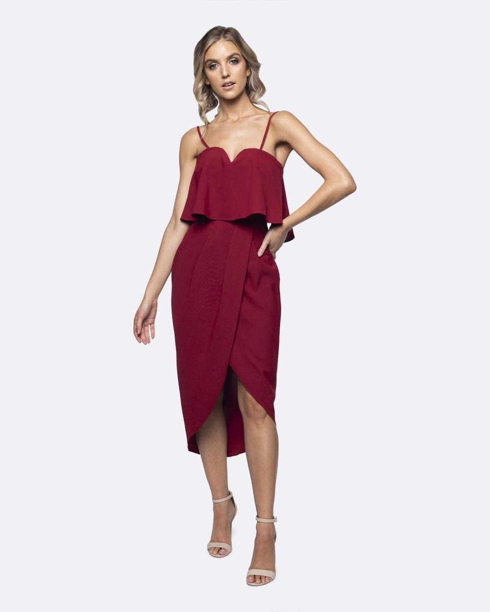Photo of Pilgrim Red Sophia Dress - buy Pilgrim dresses on sale online