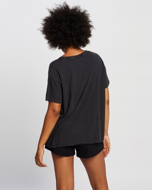 All About Eve Flutter Tee - T-Shirts & Singlets (Black)