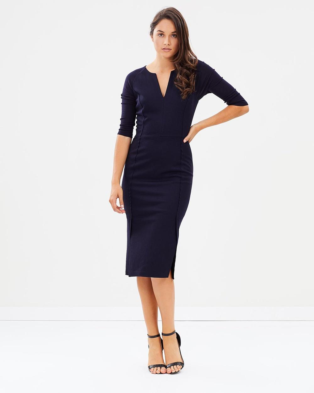 SABA Karlie Pencil Dress Dresses Navy Karlie Pencil Dress