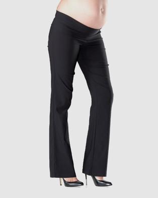 Soon Maternity Flora Regular Straight Maternity Pants - Pants (Black)